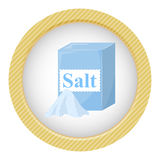 Pack of Salt. Vector illustration in cartoon style Royalty Free Stock Photography