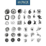 Pack of scribble elements. You can use it as brush Stock Photography