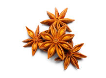 Pack of several anise stars Royalty Free Stock Photos