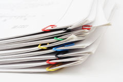 Pack of sheets of paper Stock Image