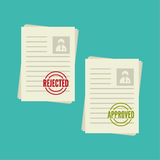Pack sheets paper with stamp Royalty Free Stock Photography