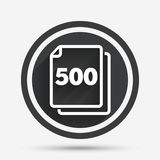 In pack 500 sheets sign icon. 500 papers symbol. Stock Photography