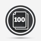 In pack 100 sheets sign icon. 100 papers symbol. Stock Photo