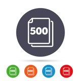 In pack 500 sheets sign icon. 500 papers symbol. Royalty Free Stock Photo