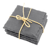 Pack Of Slate Drink Coasters Royalty Free Stock Photography
