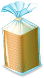 A pack of sliced bread. Illustration of a pack of sliced bread on a white background royalty free illustration