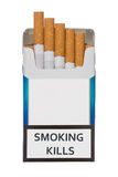 Pack of smoking kills cigarettes Royalty Free Stock Photo