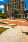 Pack Square Park and the Buncombe County Courthouse in Asheville Royalty Free Stock Photo