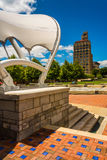 Pack Square Park and the Jackson Building in Asheville, North Ca Royalty Free Stock Image