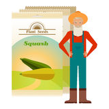 Pack of Squash seeds icon Royalty Free Stock Images
