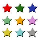 Pack of star shaped buttons Royalty Free Stock Images