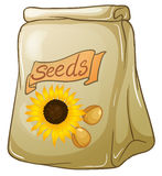 A pack of sunflower seeds. Illustration of a pack of sunflower seeds on a white background Royalty Free Stock Photography