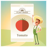 Pack of Tomato seeds Royalty Free Stock Image