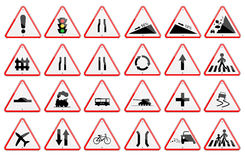 Pack of traffic sign Stock Photography