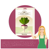 Pack of Turnip seeds icon Royalty Free Stock Photo