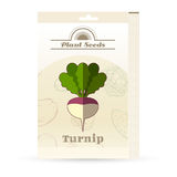 Pack of Turnip seeds icon Royalty Free Stock Images