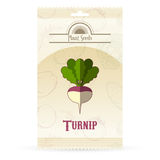 Pack of Turnip seeds icon Stock Photos
