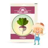 Pack of Turnip seeds icon Stock Photo