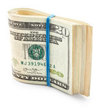 Pack of twenty dollars Royalty Free Stock Photo