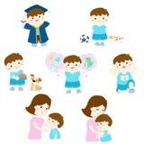 Pack of variety boy activity cartoon character  Royalty Free Stock Image