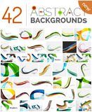Pack of vector abstract backgrounds Royalty Free Stock Photo