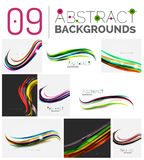 Pack of vector abstract backgrounds Royalty Free Stock Photos