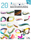 Pack of vector abstract backgrounds Stock Images