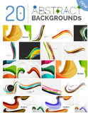 Pack of vector abstract backgrounds Royalty Free Stock Photography