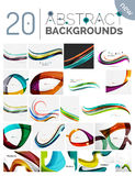Pack of vector abstract backgrounds Stock Photo