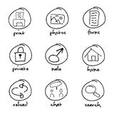Pack of vector button Royalty Free Stock Photography