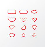 Pack of vector fabric icons. Simple shapes with space for your t Royalty Free Stock Images