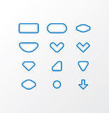 Pack of vector fabric icons. Simple shapes with space for your t Royalty Free Stock Image