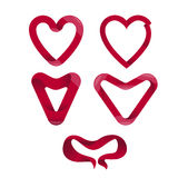Pack of vector heart shaped elements Stock Image