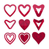 Pack of vector heart shaped elements Royalty Free Stock Photography