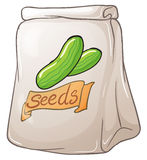 A pack of vegetable seeds Royalty Free Stock Images