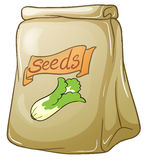A pack of vegetable seeds. Illustration of a pack of vegetable seeds on a white background Royalty Free Stock Photography