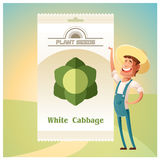 Pack of White Cabbage seeds Royalty Free Stock Photos