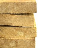 Pack of wooden planks Stock Image