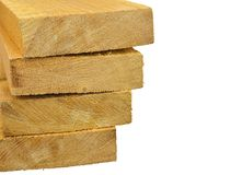 Pack of wooden planks Royalty Free Stock Photography