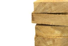 Pack of wooden planks Royalty Free Stock Image