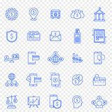 packa ihop finanssymbolsset 25 vektorsymboler packar arkivbild