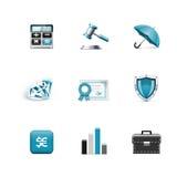 Packa ihop och finansiera symboler. Azzuro serie Royaltyfria Bilder
