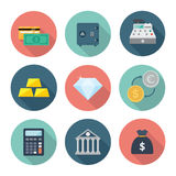 Packa ihop och finanssymbol Royaltyfria Bilder