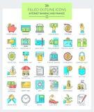 Packa ihop och finanssymboler Royaltyfria Bilder