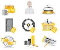 packa ihop vektor för online-del för symbol 4 set royaltyfri illustrationer