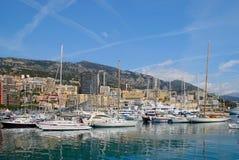Packad hamn på Monte - carlo arkivbilder