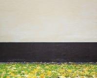 Packad vägg och gräs Royaltyfri Fotografi