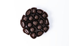 Packade bittra choklader fotografering för bildbyråer