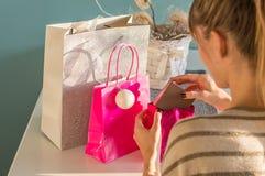 packade gåvor Royaltyfria Foton
