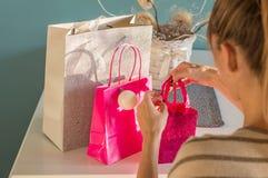 packade gåvor Royaltyfri Fotografi